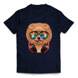 【ポメラニアン ドッグ 犬 いぬ サングラス ヘッドフォン】キッズ 半袖 Tシャツ by Fox R...