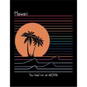 【ハワイ・アロハ・レインボー】ポストカード 黒背景