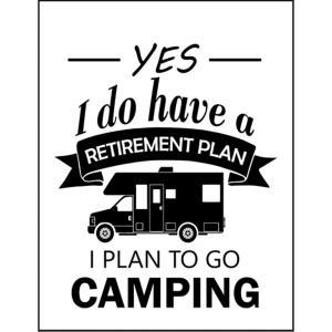 【リタイアした後のプランは?キャンプに行く!】ポストカード