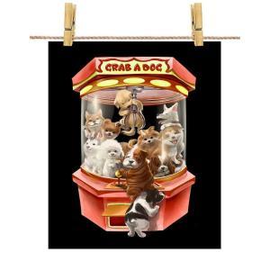 ポストカード 犬 の クレーンゲーム UFOキャッチャー ゲーム いぬ by Fox Republi...