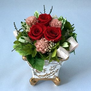 プリザーブドフラワー プレゼント ギフト お祝い 結婚祝い 出産祝い 新築祝い お誕生日祝い ホワイトデー おしゃれ ロココ|fp-kaori2003|02