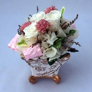プリザーブドフラワー プレゼント ギフト お祝い 結婚祝い 出産祝い 新築祝い お誕生日祝い ホワイトデー おしゃれ ロココ|fp-kaori2003|13