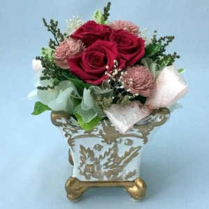 プリザーブドフラワー プレゼント ギフト お祝い 結婚祝い 出産祝い 新築祝い お誕生日祝い ホワイトデー おしゃれ ロココ|fp-kaori2003|15