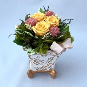 プリザーブドフラワー プレゼント ギフト お祝い 結婚祝い 出産祝い 新築祝い お誕生日祝い ホワイトデー おしゃれ ロココ|fp-kaori2003|17