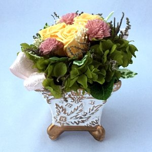 プリザーブドフラワー プレゼント ギフト お祝い 結婚祝い 出産祝い 新築祝い お誕生日祝い ホワイトデー おしゃれ ロココ|fp-kaori2003|18