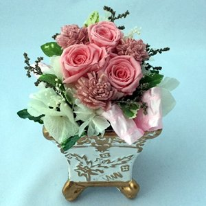 プリザーブドフラワー プレゼント ギフト お祝い 結婚祝い 出産祝い 新築祝い お誕生日祝い ホワイトデー おしゃれ ロココ|fp-kaori2003|10