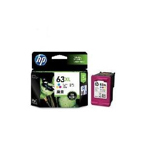 HP63XL インクカートリッジ カラー 増量(F6U63AA)純正品  ※当商品は、代金引換はご利用できません。 fpc