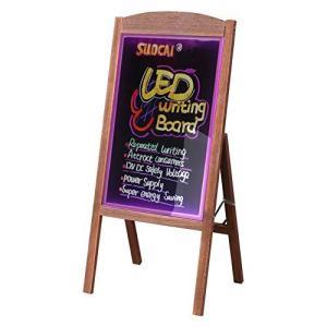 LED 立て看板 A型 光る看板 看板 スタンド 屋外 高さ90cm 木製 ウェルカムボード メニューボード 電飾看板 リモコ fr-online