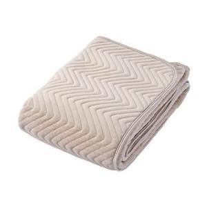 京都西川 (表地パイル部分)綿100%シンカーシャーリング やわらか敷きパッド ジュニア 90×190cm ベージュ 5C-PT6104JR|fragileya