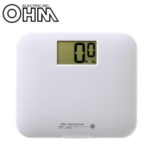 OHM 大画面 デジタル体重計 HB-K105-W|fragileya