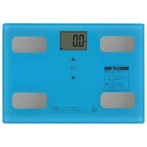 OHM 体重体組成計 ブルー HB-KG11R2-A|fragileya