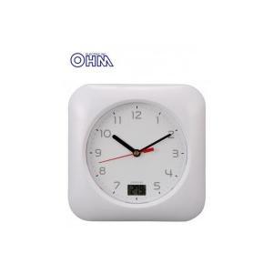 OHM お風呂用クロック&温度計 HB-T10-W|fragileya