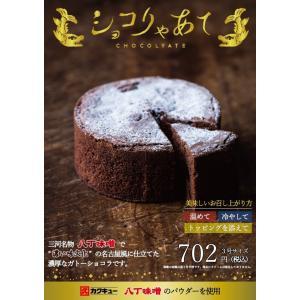 ガトーショコラ チョコレートケーキ ショコりゃあて 3号 まとめ買い スイーツ ギフト チョコレート 濃厚 八丁味噌 名古屋 常温|fraicheur|04