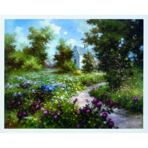 アート ポスター フレーム付 【The Enchanted Garden】 Artist/Gabriela Size/610×763mm|frame-shop