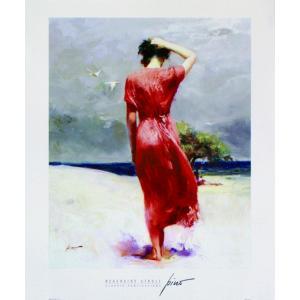 アート ポスター フレーム付 【Beachside Stroll】 Artist/Pino Size/612×510mm|frame-shop