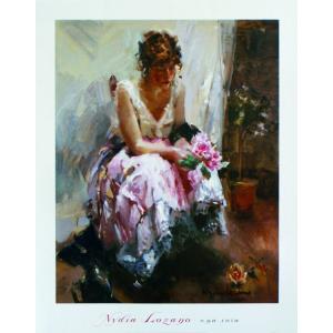 アート ポスター フレーム付 【Laura Una Rosa】 Artist/Lozano Size/840×660mm|frame-shop