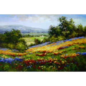 アート ポスター フレーム付 【Campo Di Fiore I】 Artist/Hulsey Size/610×915mm|frame-shop