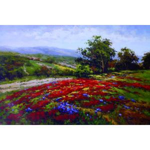 アート ポスター フレーム付 【Campo Di Fiore II】 Artist/Hulsey Size/610×915mm|frame-shop