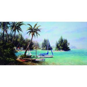 アート ポスター フレーム付 【Island Cove】 Artist/Fronckowiak Size/510×1017mm|frame-shop