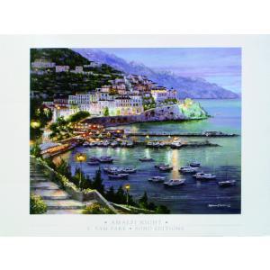 アート ポスター フレーム付 【Amalfi Night】 Artist/Park,S.Sam Size/688×918mm|frame-shop