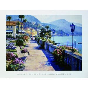 アート ポスター フレーム付 【Bellagio Promenade】 Artist/Behrens Size/688×890m|frame-shop