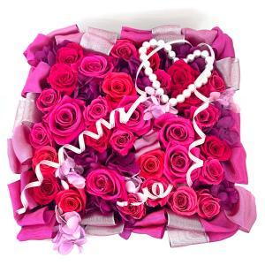高級プリザーブドローズ「Princess pink BOX」|fran-frower-arrange