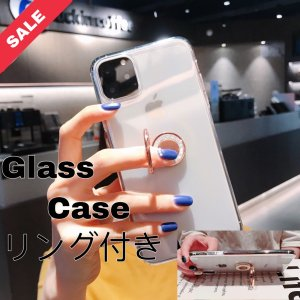 iPhone11 Pro ケース iPhone11 ケース 透明リング付き 強化ガラス iPhone...