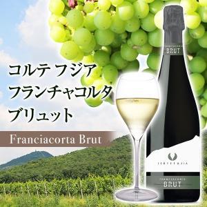 イタリア最高級スパークリングワイン フランチャコルタ ブリュット / コルテ フジア 750ml|franciacorta