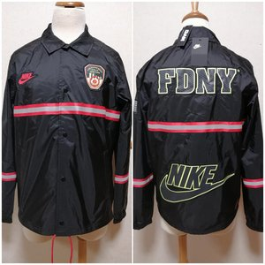 ナイキ NIKE コーチジャケット FDNY ニューヨーク市消防局 黒|freak-10