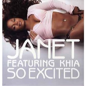 """JANET JACKSON feat KHIA - SO EXCITED 12"""" US 2006年リ..."""