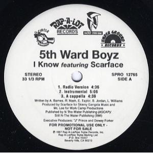 THE 5TH WARD BOYZ feat Scarface - I KNOW / HEAT 12...