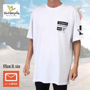 送料無料 Mark Gonzales マークゴンザレス Tシャツ 半袖Tシャツ 2g73307ブラック ホワイト M L XL デカめ メール便 free-style