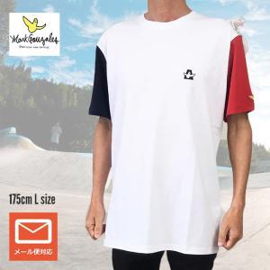 送料無料 Mark Gonzales マークゴンザレス Tシャツ 半袖Tシャツ 2g73310 ホワイト M L XL デカめ メール便|free-style