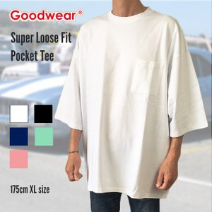 GOODWEAR グッドウエア Tシャツ カットソー 半袖 USコットン メンズ ヘヴィウエイトコットン スーパールーズフィット 無地Tシャツ|free-style