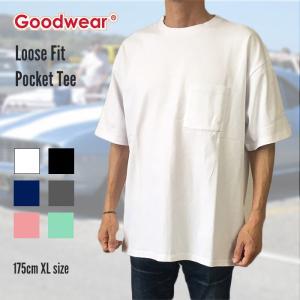 Goodwear グッドウェア Tシャツ カットソー 半袖 USコットン メンズ ヘヴィウエイトコットン 大きいサイズ 無地 送料無料|free-style