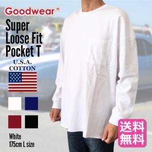GOODWEAR グッドウェア Tシャツ カットソー 長袖 メンズ ポケット ルーズフィット ロングスリーブTシャツ 大きいサイズ 送料無料|free-style