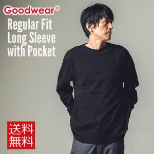 GOODWEAR グッドウェア Tシャツ カットソー 長袖 メンズ ポケット レギュラーフィット 大きいサイズ ロンT 送料無料|free-style