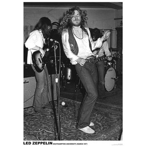 ロックポスター Led Zeppelin レッド・ツェッペリン ポスター Southampton 1971 LIVE|free-style