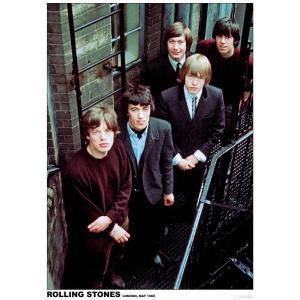 ポスター THE ROLLING STONES ローリング・ストーンズ ロックポスター ロンドン 1965 写真 フォト 61センチX91センチ|free-style