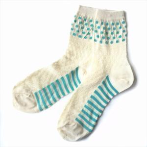 Crochet Dots and Stripes ソックス 靴下 ソックス レディースソックス 女性用靴下 誕生日プレゼント プレゼント ラッピング無料 送料無料|free-style