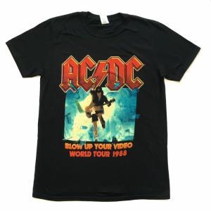 AC/DC Tシャツ BLOW UP YOUR VIDEO バンドT ブラック Tシャツ メンズ バンドTシャツ ロックTシャツ 送料無料 free-style