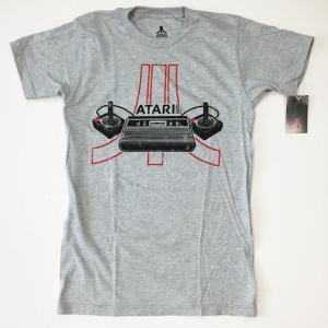 ATARI アタリ Tシャツ ゲーム コントローラー ヴィンテージ グレー Tシャツ 送料無料|free-style