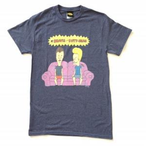 メンズ Tシャツ BEAVIS & BUTT-HEAD / ビーバス・アンド・バットヘッド アニメTシャツ 送料無料|free-style