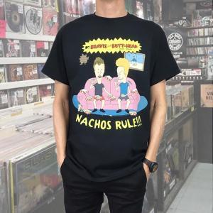 BEAVIS & BUTT-HEAD / ビーバス・アンド・バットヘッド NACHOS RULES ブラックTシャツ|free-style