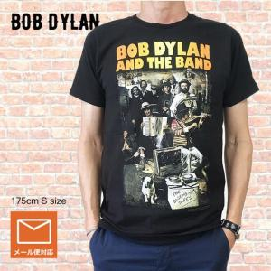 メール便 送料無料 バンドT BOB DYLAN  ボブ・ディラン Tシャツ AND THE BAND ブラック ロックT Tシャツ free-style