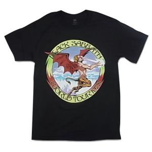 バンドTシャツ Black Sabbath ブラック・サバス WORLD TOUR 1978 ロックTシャツ Tシャツ 送料無料 free-style