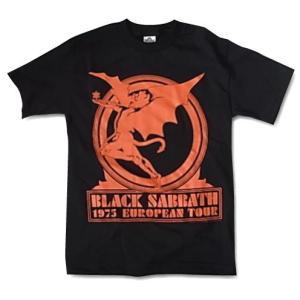 バンドTシャツ Black Sabbath ブラック・サバス 1975 EUROPEAN TOUR  ロックTシャツ Tシャツ 送料無料 free-style