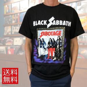 バンドTシャツ Black Sabbath ブラックサバス Tシャツ SAVOTAGE ロックTシャツ バンドT 送料無料 free-style