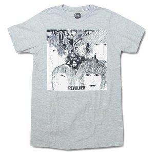 メンズ Tシャツ The Beatles ザ・ビートルズ Tシャツ REVOLVER グレー ロックTシャツ 送料無料 free-style