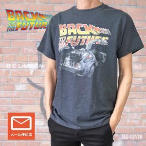 映画 Tシャツ Back to the future バック・トゥ・ザ・フューチャー デロリアン ヘザーグレー 映画Tシャツ 送料無料|free-style